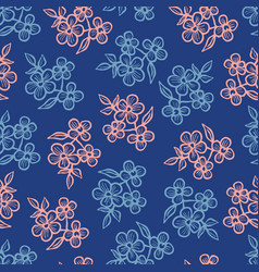 seamless pattern with forget me nots vector image