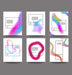Set banner design templates with abstract vector