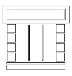 Shopfront icon vector