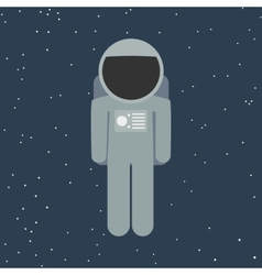 spaceman in flat style vector image