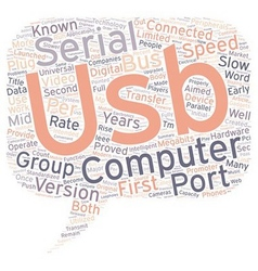 The Journey From USB 1 1 To USB 2 0 text vector image