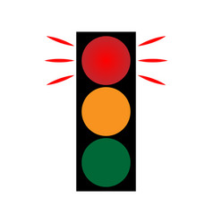 traffic light red 1402 vector image