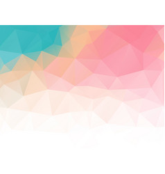 triangular abstract background pastel colored vector image