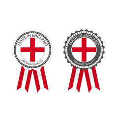 two modern made in england labels vector image