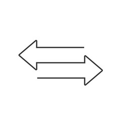 two opposite arrows icon transfer sign for your vector image