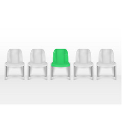 vacant chairs empty office armchairs near office vector image