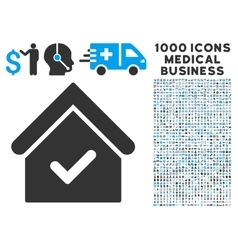 Valid House Icon with 1000 Medical Business vector