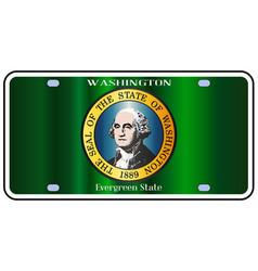washington state license plate flag vector image