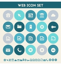 Web icon set Multicolored flat buttons vector image