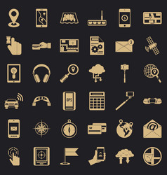 Wireless control icons set simple style vector