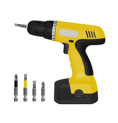 wireless electric screwdriver in the vector image