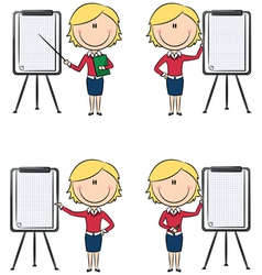 business ladies vector image vector image