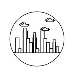 cityscape buildings skyline icon vector image