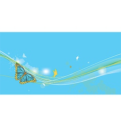 fantasy background with butterfly vector image