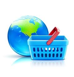 global shopping vector image