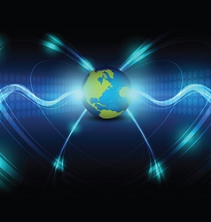 global telecoms concept background vector image vector image