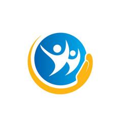 People care happy logo vector