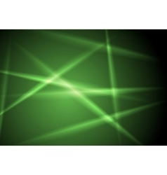 Abstract shiny green glowing stripes layout design vector