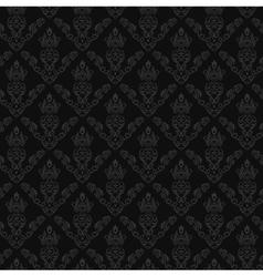 Seamless Damask Wallpaper 2 Gray Color vector image