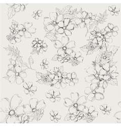 Seamless pattern with decorative poppy flowers on vector image