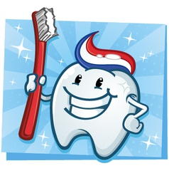 Tooth Cartoon Character vector image