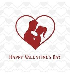 Valentine day lettering background with young vector image vector image