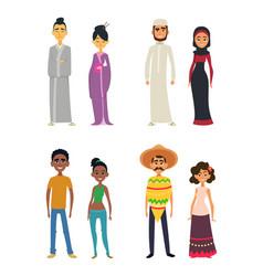 worldwide group of international peoples in vector image vector image