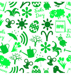 april month theme set of simple icons seamless vector image vector image