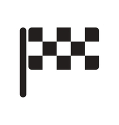 Flat icon in black and white checkered flag vector