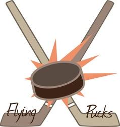 Flying Pucks vector image vector image