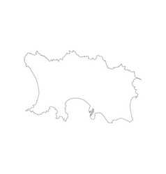 jersey map outline vector image vector image