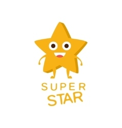 Super Star Word And Corresponding vector image
