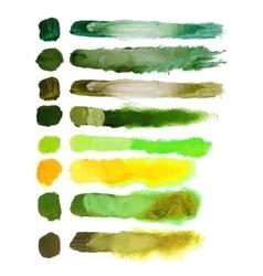 volumetric brush strokes vector image
