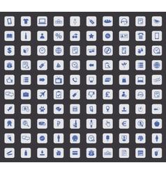 100 Shop icon set square vector