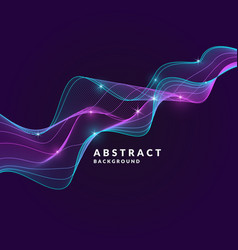 Abstract background with a dynamic waves lines in vector