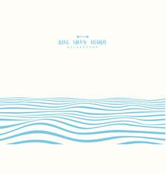 Abstract blue wavy design ocean pattern vector