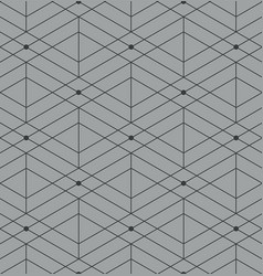 abstract geometric pattern with lines on gray vector image
