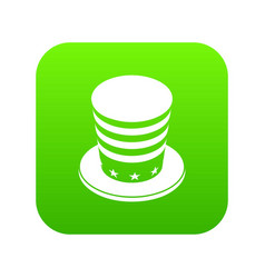 American conic hat icon green vector