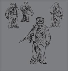 Armed men vector
