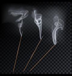 Aroma smoke reed sticks aromatherapy vector