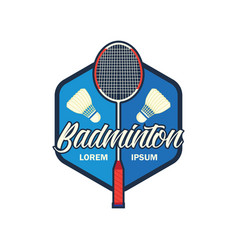badminton logo with text space for your slogan vector image