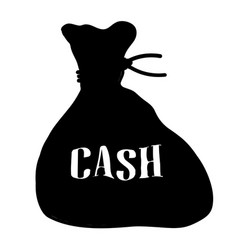 bag cash isolated vector image