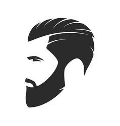 Bearded man hipster style fashion silhouette vector