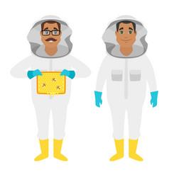 Beekeeper man characters vector
