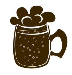beer mug silhouette vector image
