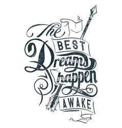 Best dreams vector