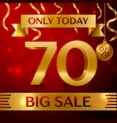big sale seventy percent for discount vector image