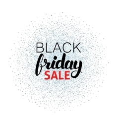 Black Friday Sale Calligraphy over Silver vector image