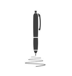 black pen icon isolated on white background vector image