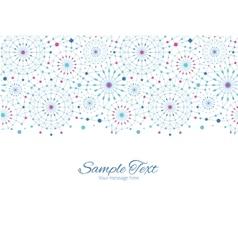 Blue abstract line art circles horizontal vector